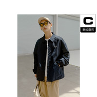 男装21年秋季新品日系复古休闲教练夹克外套