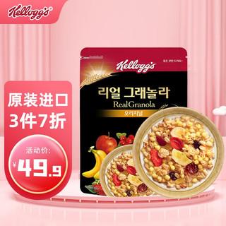 Kellogg's 家乐氏 韩国进口 家乐氏(Kellogg's)水果麦片 谷兰诺拉什锦即食谷物代餐 营养早餐燕麦片400g