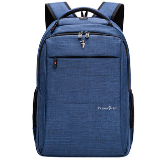 victoriatourist 维多利亚旅行者 VICTORIATOURIST 双肩包电脑包15.6英寸 男女商务防水双肩背包V9006蓝色电脑数码包