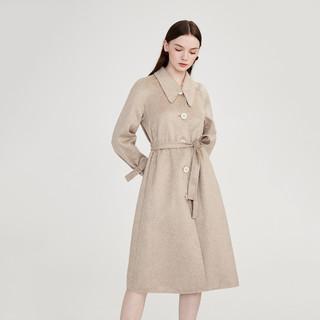LILY 女士羊毛混纺大衣 120429F1910704