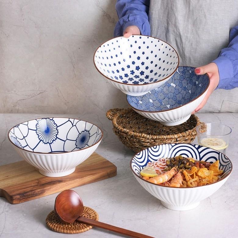 周二生活场 : MURMURGEM 春游计 8英寸陶瓷碗 4个装