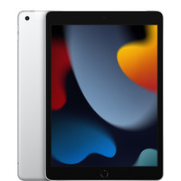 Apple 苹果 iPad 9 2021款 10.2英寸 平板电脑(2160*1620dpi、A13、256GB、Cellular版、银色、MK643CH/A)
