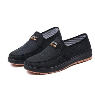 春季舒适牛筋底老北京布鞋爸爸鞋休闲软底防滑底中老年单鞋男鞋子