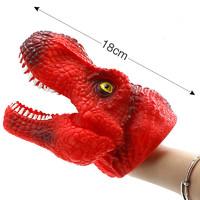 万力睿 恐龙手偶软胶手套仿真动物头模型