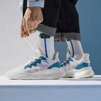 秋季新品运动鞋男2021新款革面拼色时尚休闲板鞋