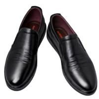 RED DRAGONFLY 红蜻蜓 男士商务休闲鞋 WTA9534 套脚款 黑色 40