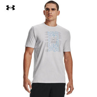 UNDER ARMOUR 安德玛 官方UA Graphic 2男子跑步运动短袖T恤1362995 灰色014 XL