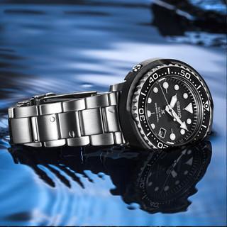 SEIKO 精工 罐头手表情侣表日本原装运动潜水表太阳能表SNE497J1