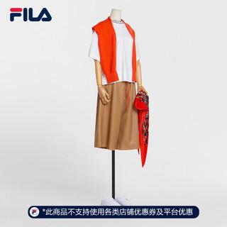 FILA 斐乐 Emerald斐乐官方2021秋季新款女士梭织宽松九分裤潮流时尚裤
