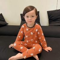雅澜清 儿童家居服睡衣套装秋衣秋裤