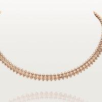 Cartier卡地亚Clash系列 玫瑰金白金 铆钉软链项链 玫瑰金