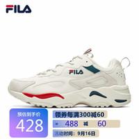 FILA 斐乐 官方 TRACER 女子时尚跑步鞋潮流老爹鞋女鞋 微白/火红-WR 38