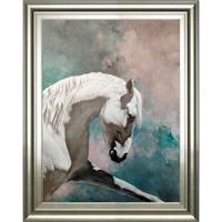 ARTMORN 墨斗鱼艺术 张勇 纯手绘骏马油画《白马1》90x60cm 布面油画 手工装裱