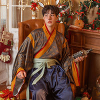 Oneself Studio从前的圣诞 改良 印花晋襦袴 男