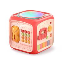 益米 婴幼儿玩具益智早教宝宝6个月男女孩2儿童8新生儿4生日礼物0-1岁 大号升级【电池款】红