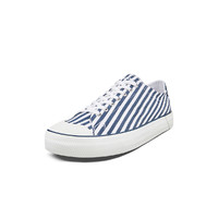 LACOSTE 拉科斯特 男士条纹帆布鞋 39CMA01071W6