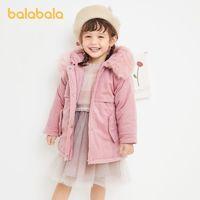 balabala 巴拉巴拉 女童灯芯绒中长款棉服