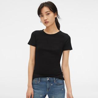 Gap 盖璞 女装莫代尔棉短袖T恤 新款女士弹力纯色修身上衣