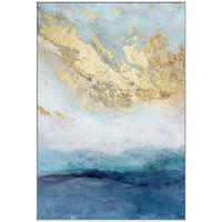 海龙红 《海纳百川》60x80cm 蓝色抽象巨幅 走廊竖版挂画
