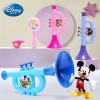 迪士尼小喇叭儿童玩具宝宝婴儿口哨迷你乐器口琴幼儿喇叭玩具可吹 公主迷你三件套+24音口琴