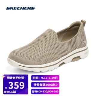 SKECHERS 斯凯奇 Skechers斯凯奇GOWALK一脚蹬减震健步鞋女子轻便休闲运动鞋124147 TPE灰褐色 36.5