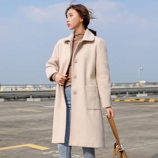 JEANSWEST 真维斯 秋季毛呢大衣女中长款韩版时尚呢子外套气质高端