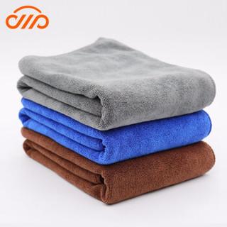 卡卡买 吸水擦车毛巾大号细纤维无痕清洁抹布车家两用 加厚款蓝色 3条装 30*60cm 颜色随机