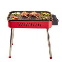 KLEBY 克来比 BY-M02 电热烧烤炉+烤盘 红色