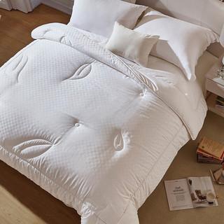 LOVO 乐蜗家纺 被子蚕丝被空调被芯双人春秋 典雅提花抗菌蚕丝 200x230cm
