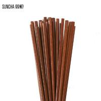 SUNCHA 双枪 铁木筷子 10双
