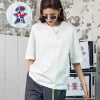JASONWOOD 21夏季新款纯棉男女情侣印花宽松短袖T恤个性字母潮