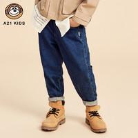 A21 男童复古宽松牛仔长裤