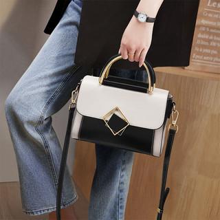 Haut Ton 皓顿 真牛皮包包女2021新款潮凯莉包斜挎百搭时尚单肩包女手提包