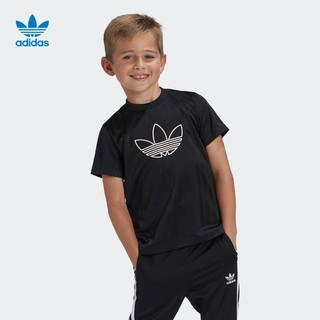 adidas 阿迪达斯 官网adidas三叶草大童装运动短袖T恤ED7764