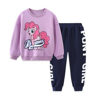 My Little Pony 小马宝莉 女童套装2021小马宝莉秋季上新儿童卫衣长袖套装休闲运动两件套