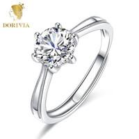 DORIVIA 多利维娅 Dorivia 一克拉六爪戒指 永恒一刻