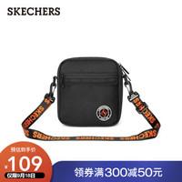 SKECHERS 斯凯奇 Skechers斯凯奇2021年新款男女LOGO串标单肩斜挎包 L121U021 深黑色/002K 19.38升