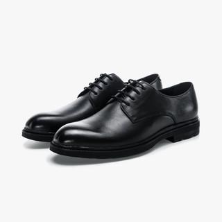 SEPTWOLVES 七匹狼 2021新款牛皮革商务休闲男鞋简约纯色舒适百搭尖头通勤鞋子