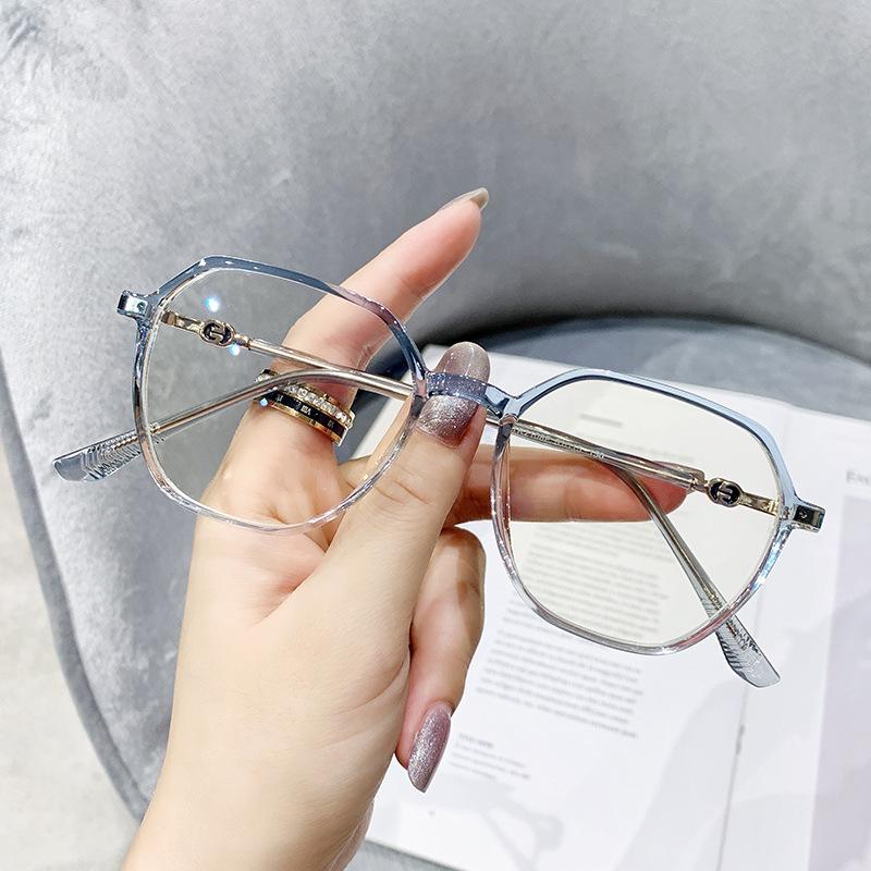 Jesmoor 不规则文艺眼镜框配+ 156非球面镜片(度数留言)