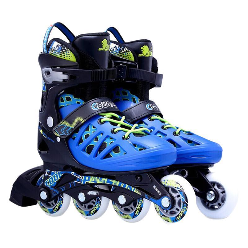 COUGAR 美洲狮 中性轮滑鞋 MZS308N 黑蓝 L