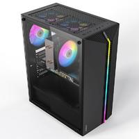 PADO 半岛铁盒 烈焰Z  黑色 游戏台式电脑机箱
