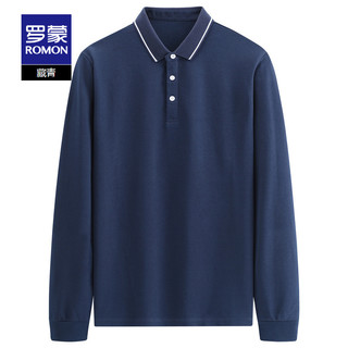 ROMON 罗蒙 男士Polo衫2021秋季新款中青年商务百搭长袖polo时尚休闲上衣