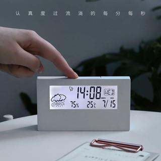 维祥 室内家用LCD时钟电子台钟温湿度计 电子闹钟