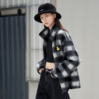 MO&Co. 摩安珂 小鸭格纹棉服外套女装