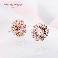 MartineWester LTD-254T 女士水晶耳钉