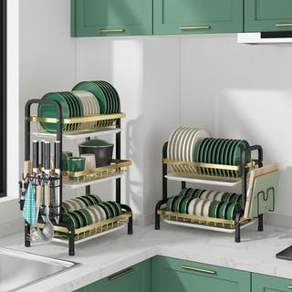 厨房沥水置物架台面家用餐具水槽洗碗池放碗碟筷多功能收纳架碗架