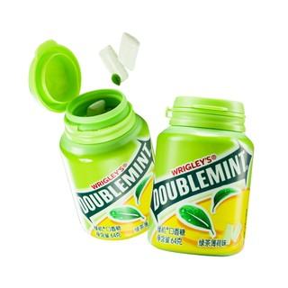 绿箭绿茶薄荷味口香糖果约40粒64g大瓶装清新口腔方便携带零食品