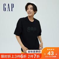 Gap 盖璞 男装纯棉LOGO印花短袖T恤732678夏季2021新款上衣