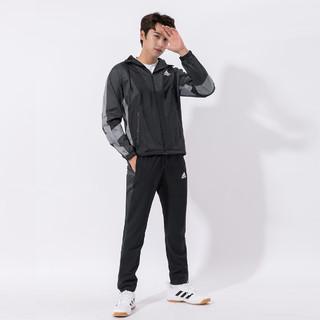 adidas 阿迪达斯 官网运动套装男士两件套秋冬款宽松舒适透气跑步训练休闲服