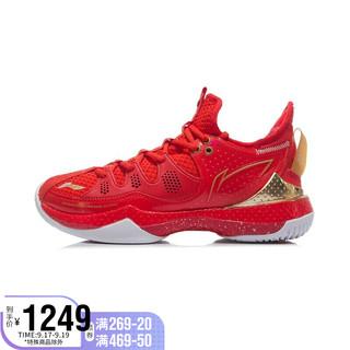 LI-NING 李宁 女鞋羽毛球鞋2021战戟Ⅲ女子羽毛球专业比赛鞋AYAR024 焰红色-2 35.5